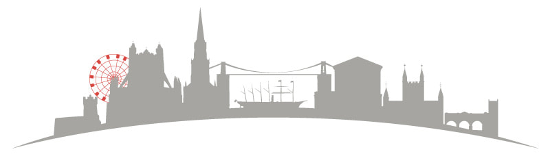 illustration of joint Bristol and Bath city scape